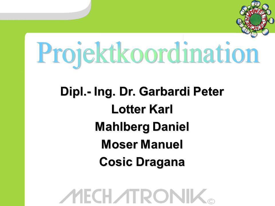 Dipl.- Ing. Dr. Garbardi Peter Lotter Karl Mahlberg Daniel Moser Manuel Cosic Dragana