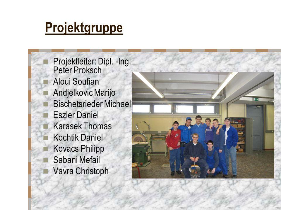 Projektgruppe Projektleiter: Dipl.-Ing.
