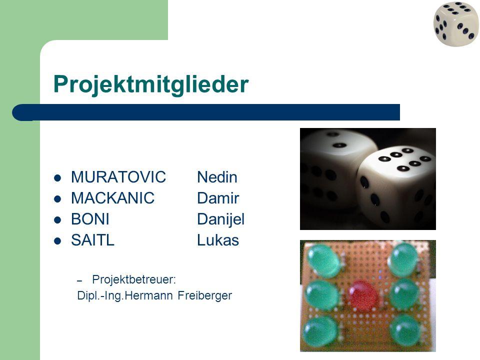 Projektmitglieder MURATOVICNedin MACKANICDamir BONIDanijel SAITLLukas – Projektbetreuer: Dipl.-Ing.Hermann Freiberger