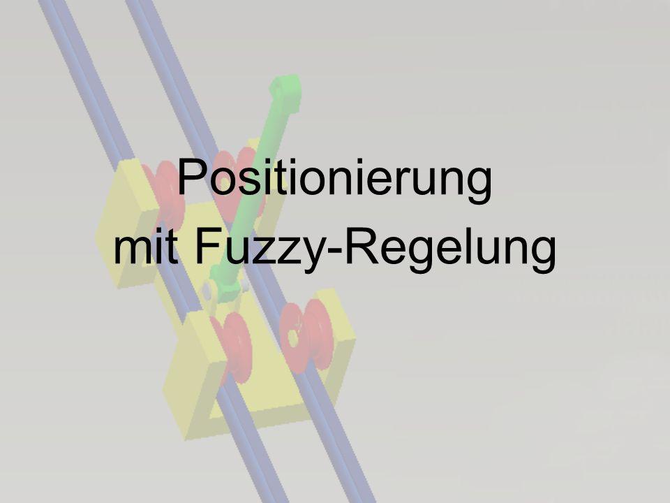 Positionierung mit Fuzzy-Regelung