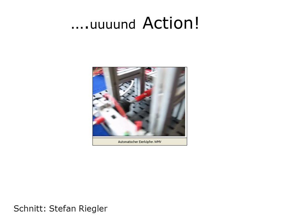 …. uuuund Action! Schnitt: Stefan Riegler