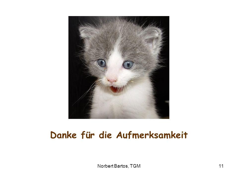 Norbert Bartos, TGM11 Danke für die Aufmerksamkeit