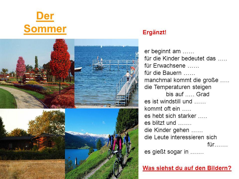 Der Herbst Was siehst du auf den Bildern.er beginnt am …..