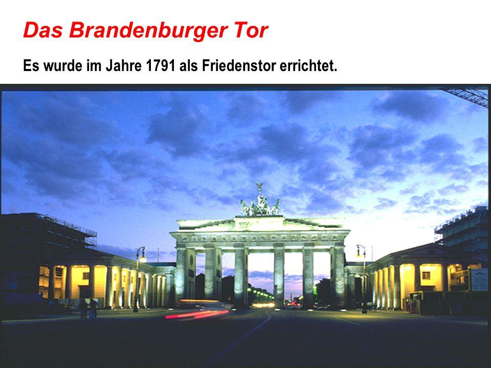 Die Straβe Unter den Linden Vom B.