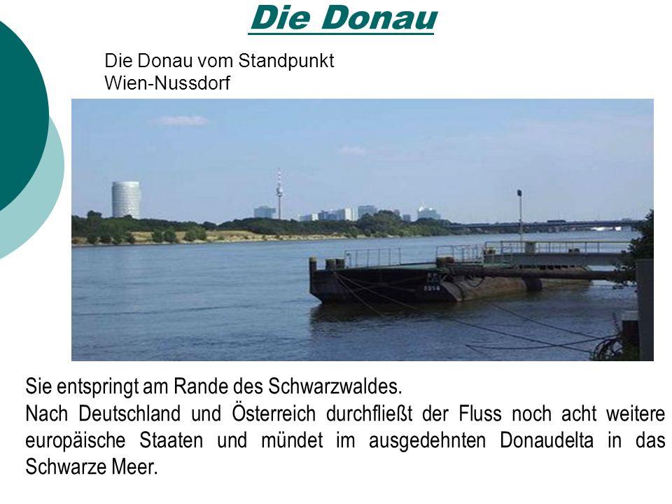 Die Donau Die Donau vom Standpunkt Wien-Nussdorf Sie entspringt am Rande des Schwarzwaldes.