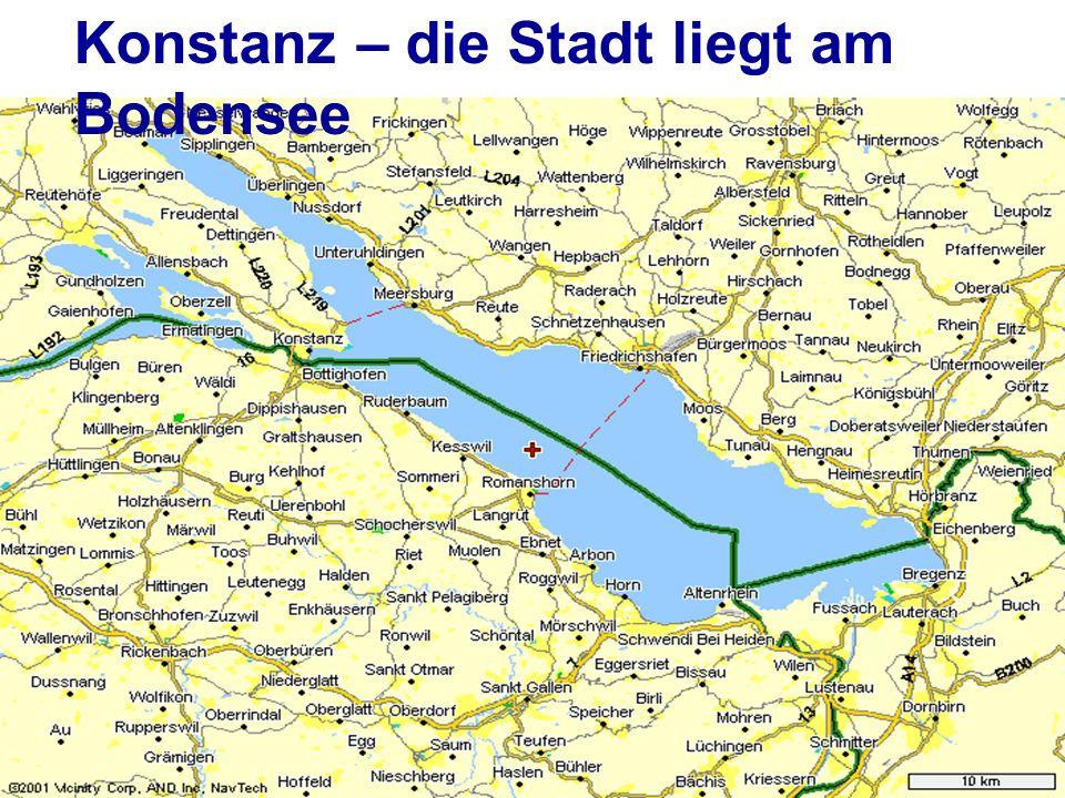 Konstanz – die Stadt liegt am Bodensee