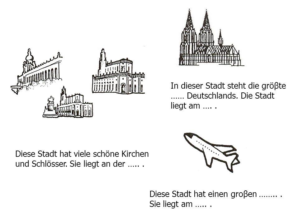 Diese Stadt hat viele schöne Kirchen und Schlösser.