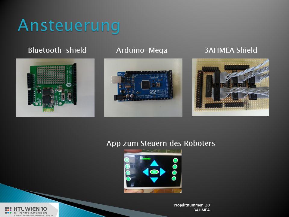 Bluetooth-shieldArduino-Mega3AHMEA Shield App zum Steuern des Roboters