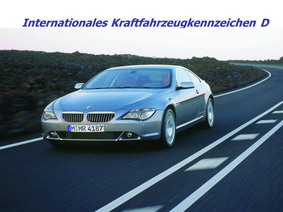 Internationales Kraftfahrzeugkennzeichen D