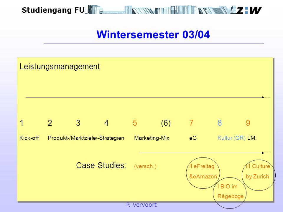Studiengang FU BWLLeistungsmanagement P. Vervoort Leistungsmanagement 12345(6)789 Kick-offProdukt-/Marktziele/-Strategien Marketing-Mix eCKultur (GR)
