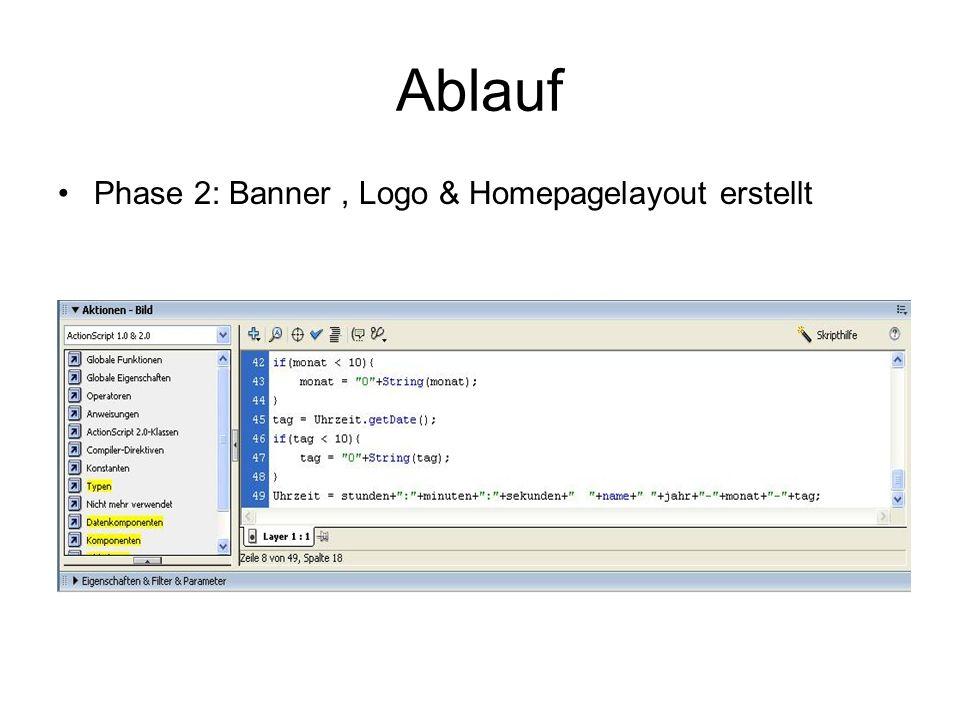 Phase 2: Banner, Logo & Homepagelayout erstellt