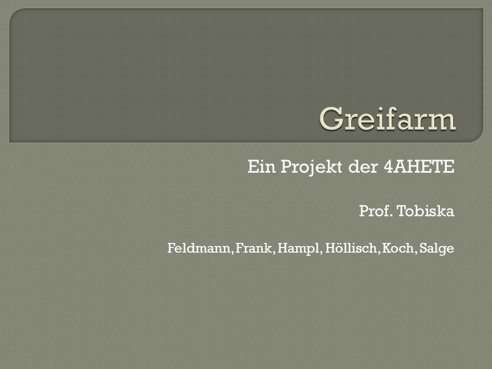 Ein Projekt der 4AHETE Prof. Tobiska Feldmann, Frank, Hampl, Höllisch, Koch, Salge
