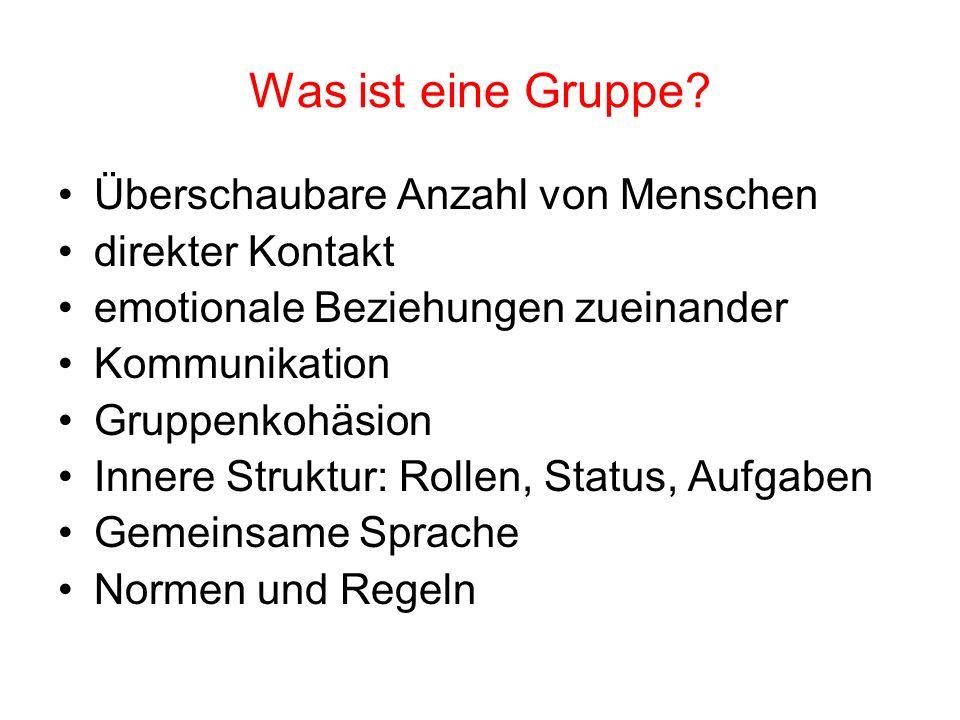 Selbstorganisationsleistungen von Teams in der Anfangsphase Aus: K.H.Geissler, Lernprozesse steuern.