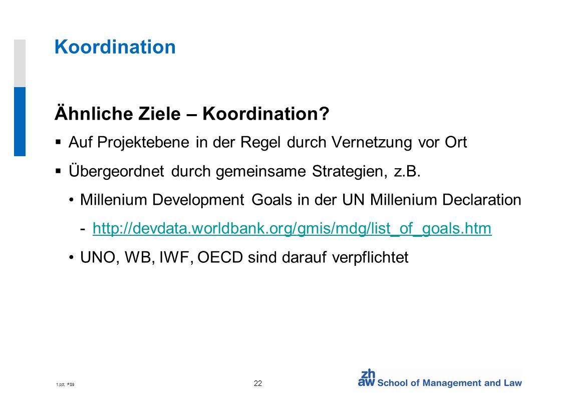 1.ppt, FS9 22 Koordination Ähnliche Ziele – Koordination.