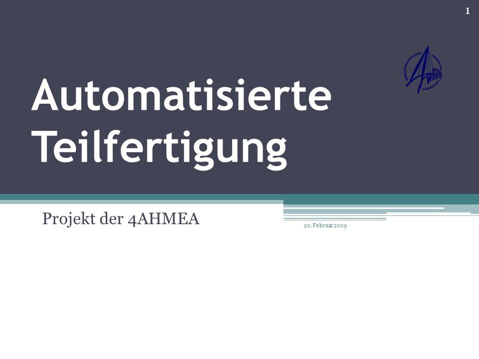 Inhalt der Präsentation: Konstruktion des Projekts Ablauf der Fertigung: Mechanischer Bereich Pneumatischer Bereich Elektronischer Bereich Umsetzung des Projekts: Einzelnen Stationen (3 Stationen) 2 20.