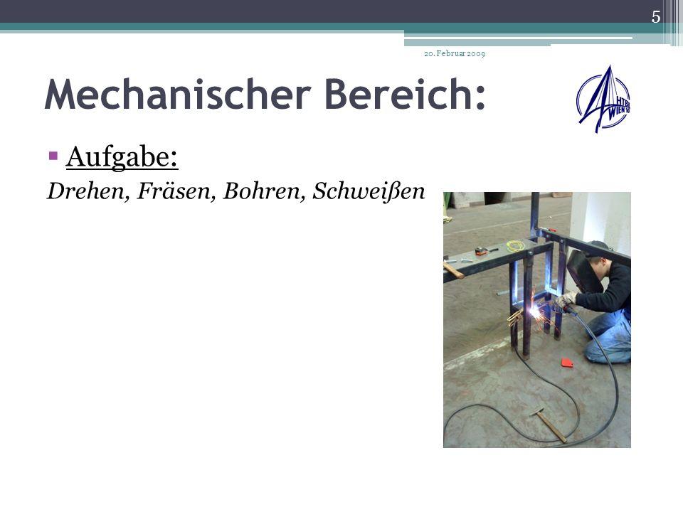 Pneumatischer Bereich: Aufgabe: Aufbau eines Druckluft- -versorgungsnetzes, Anspeißung der einzelnen Zylinder und Ventile 20.