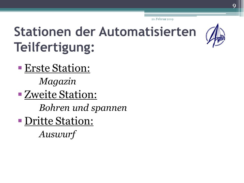 Erste Station (Magazin) 20.