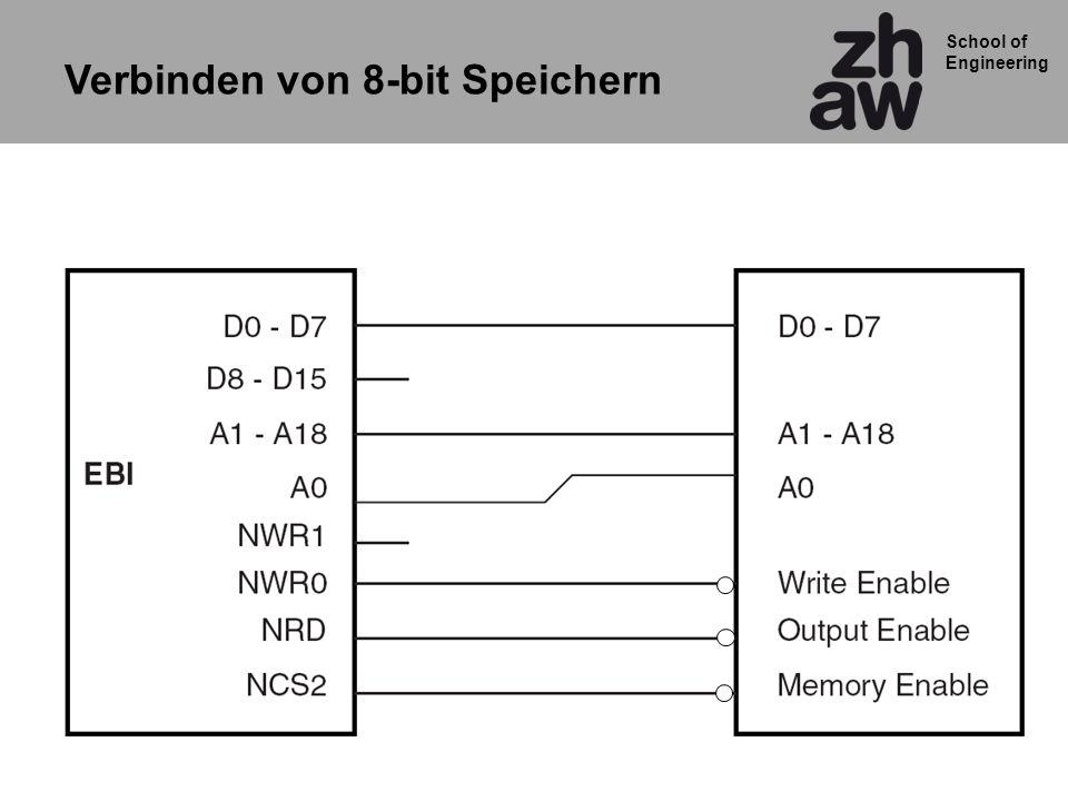 School of Engineering Verbinden von 8-bit Speichern