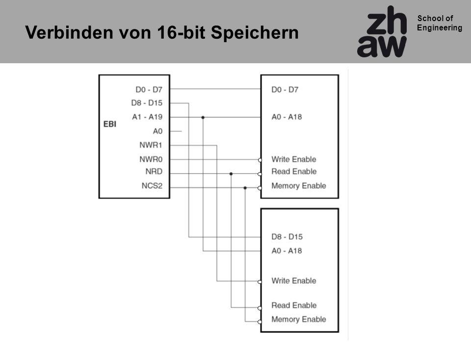 School of Engineering Verbinden von 16-bit Speichern