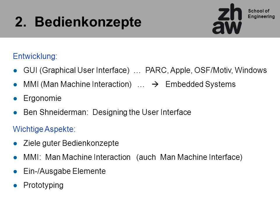 School of Engineering Beispiel eines guten Benutzerinterfaces: TwoTimer von Tissot Digitaluhren mit Zusatzfunktionen mit vier Knöpfen Bedienung.