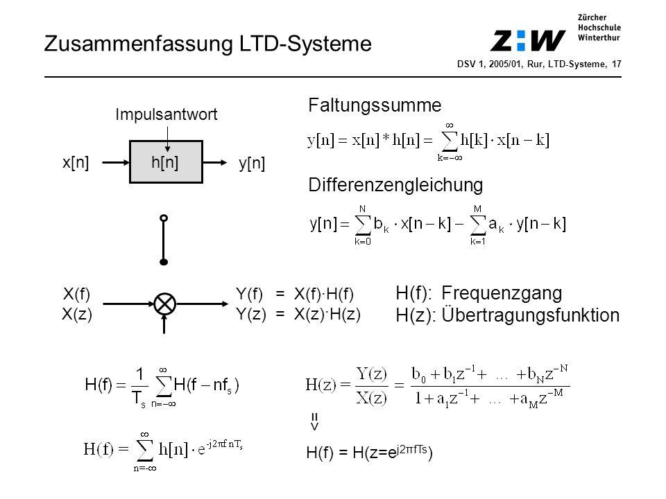 Korrelation DSV 1, 2006/01, Hrt, LTD-Systeme, 18 Anwendungen: