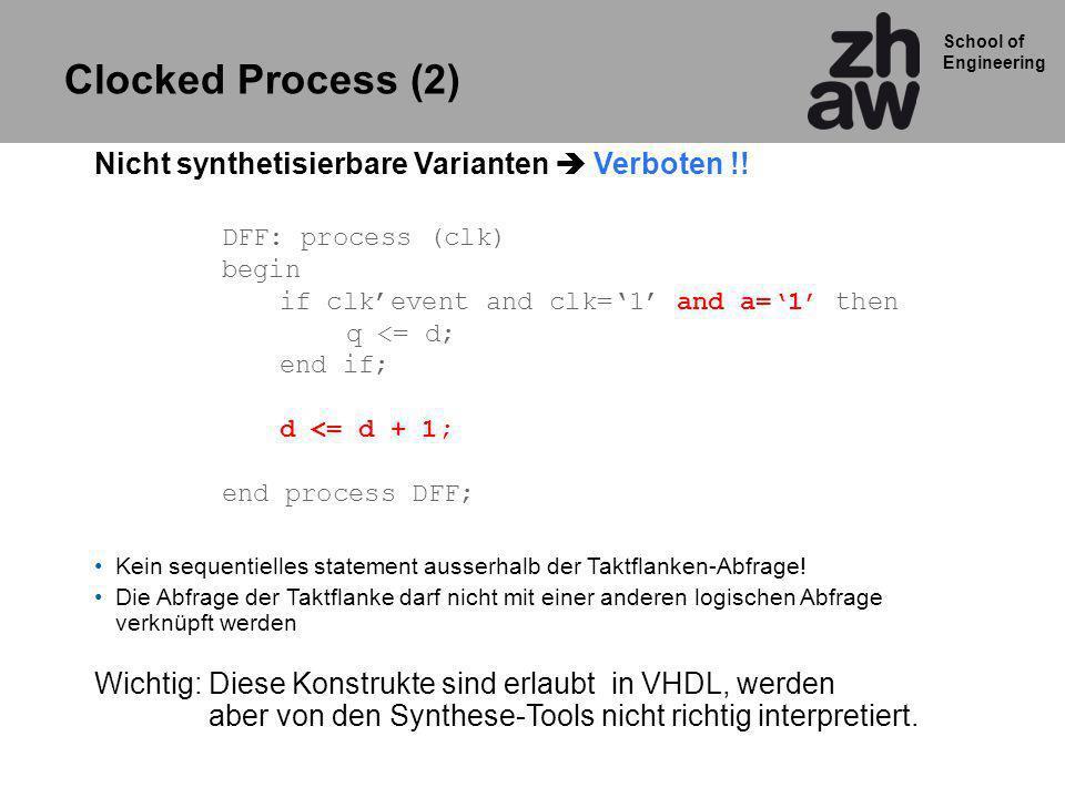 School of Engineering Achtung: Nicht zusammen mit conv_std Routinen verwenden IEEE numeric_std Konvertierungsroutinen