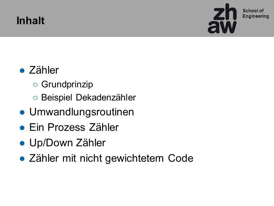 School of Engineering Up/down Zähler