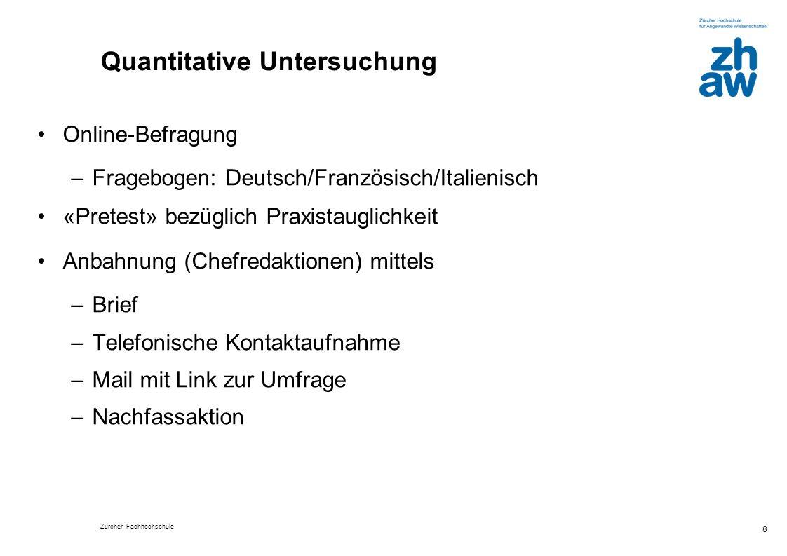 Zürcher Fachhochschule 19 Was tun Journalisten, wenn sie berufsethische Entscheidungen zu treffen haben.