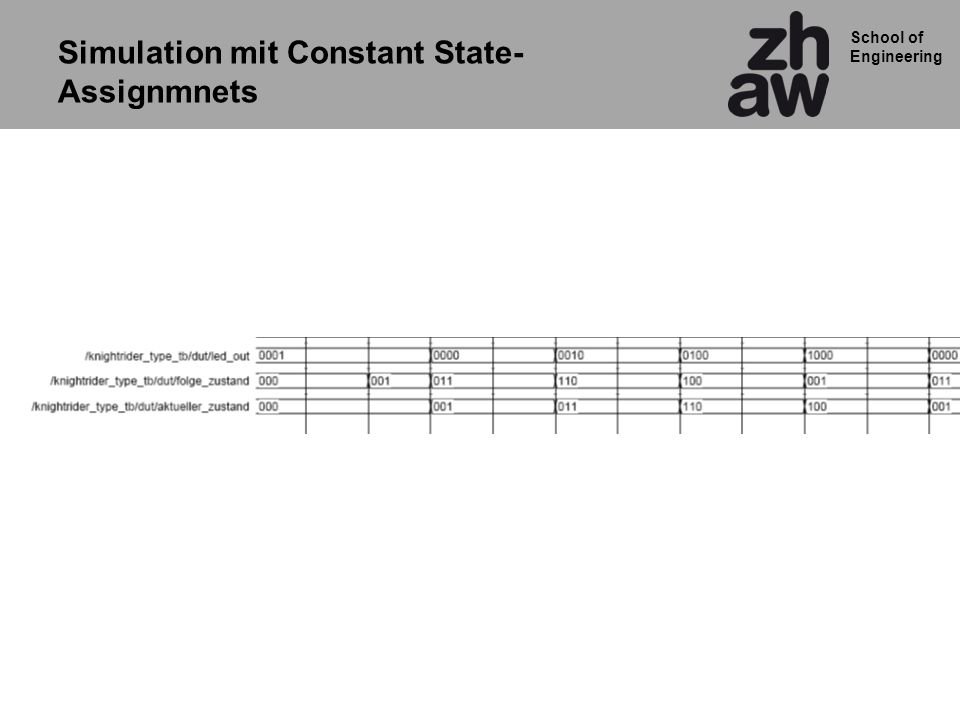 School of Engineering Simulation mit Constant State- Assignmnets