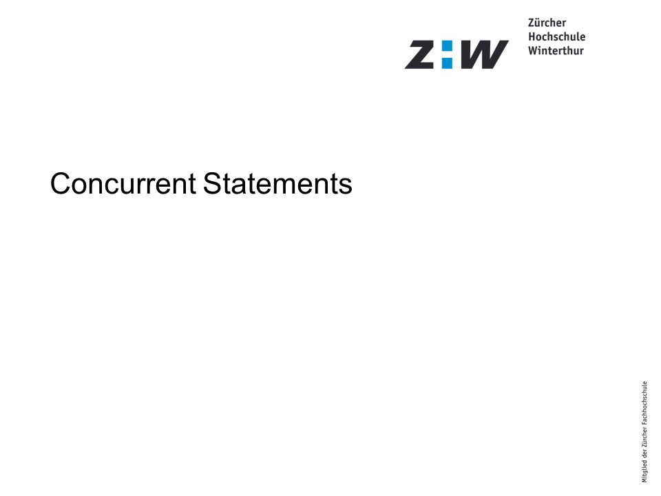 Concurrent Statements