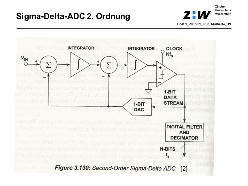 Sigma-Delta-ADC 2. Ordnung DSV 1, 2005/01, Rur, Multirate, 19 [2]