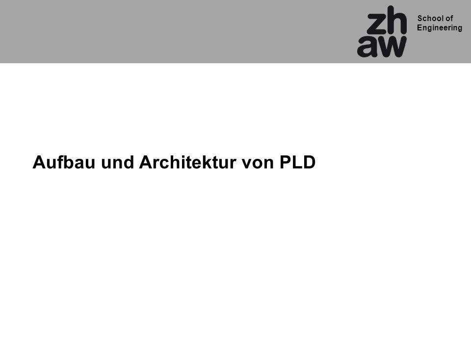 School of Engineering Aufbau und Architektur von PLD