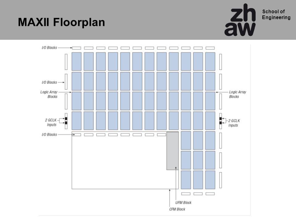 School of Engineering MAXII Floorplan