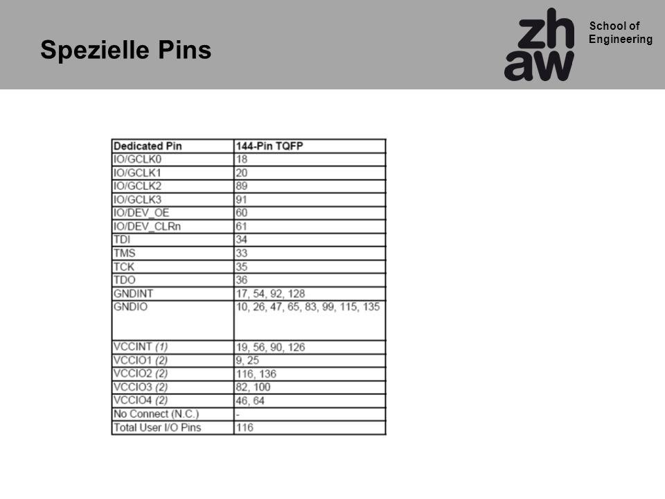 School of Engineering Spezielle Pins