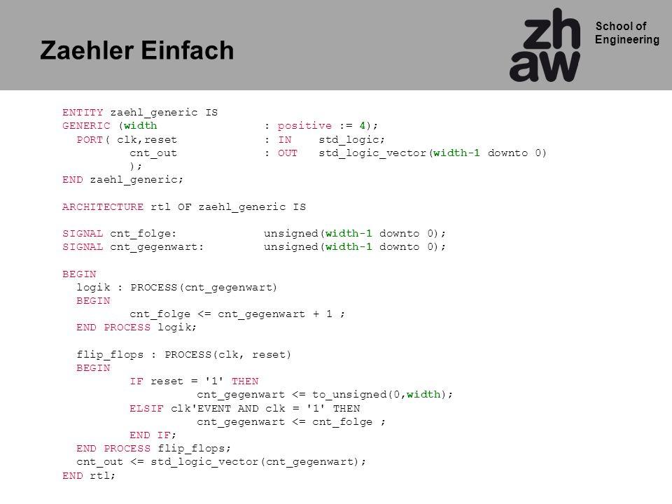 School of Engineering RTL Diagramm zaehler_einfach 4h1