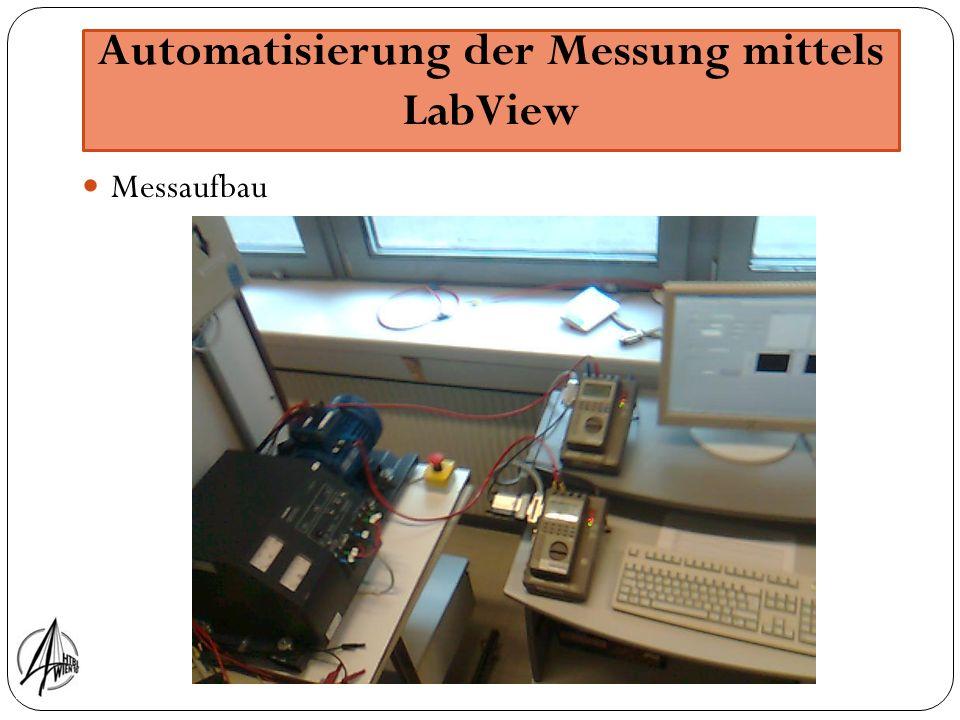 Automatisierung der Messung mittels LabView Messaufbau