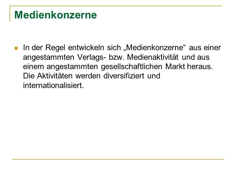 Bertelsmann AG Entwicklung durch Aufkäufe und Beteiligungen 1964 Kauf der Ufa Filmproduktion 1969 25% Beteiligung an Gruner + Jahr 1973 Mehrheitsbeteiligung an Gruner + Jahr 1980 Kauf Bantan Books 1998 Kauf Random House 1997 Fusion Ufa Film- und Fernseh GmbH +CLT