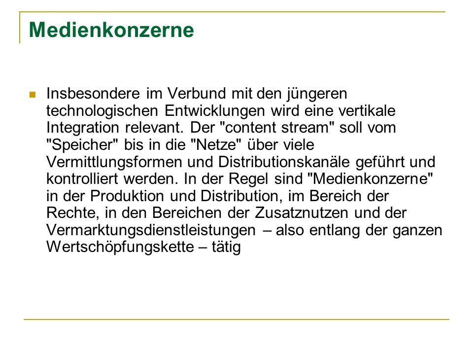Medienkonzerne Deutschland Heinrich Bauer Verlag (Familie Bauer) Zeitschriften; Bravo (line extensions); Laura, tina, Neue Post, Neue Revue Verlagsunion Erich Pabel – Arthur Moewig KG