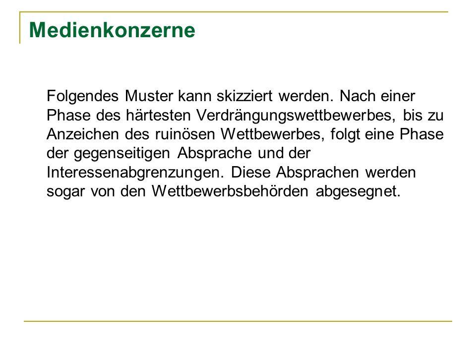 Bertelsmann AG Komplexe Verbindungen mit anderen Konzernen Österreich: Mediaprint und Verlagsgruppe News, 52.5% Gruner + Jahr; 17.5% Familie Fellner; 30% Zeitschriften Verlagsbeteiligung AG - WAZ