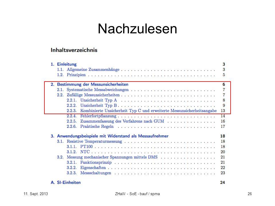 11. Sept. 2013ZHaW - SoE - bauf / spma 26 Nachzulesen