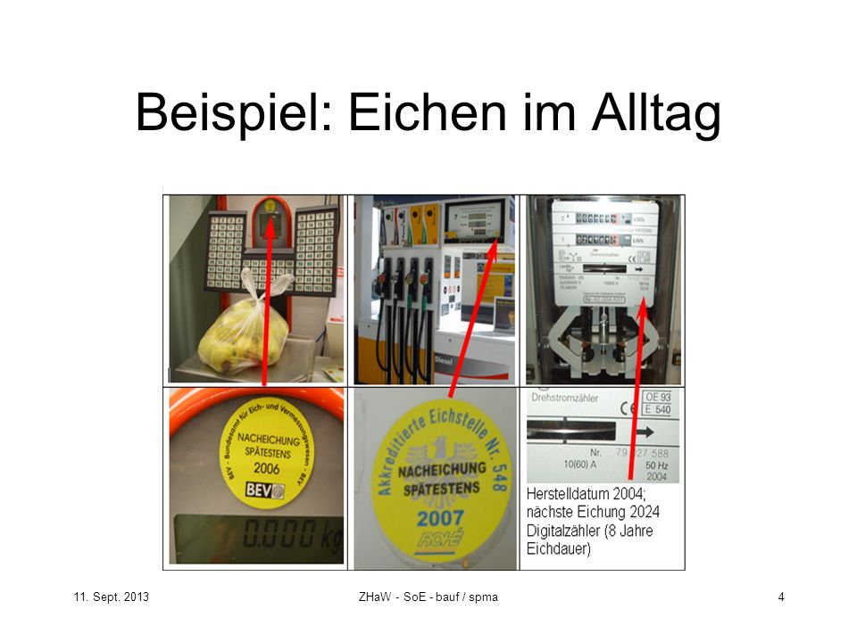 11. Sept. 2013ZHaW - SoE - bauf / spma 4 Beispiel: Eichen im Alltag