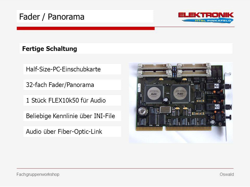FachgruppenworkshopOswald Fertige Schaltung Half-Size-PC-Einschubkarte 1 Stück FLEX10k50 für Audio Beliebige Kennlinie über INI-File Fader / Panorama