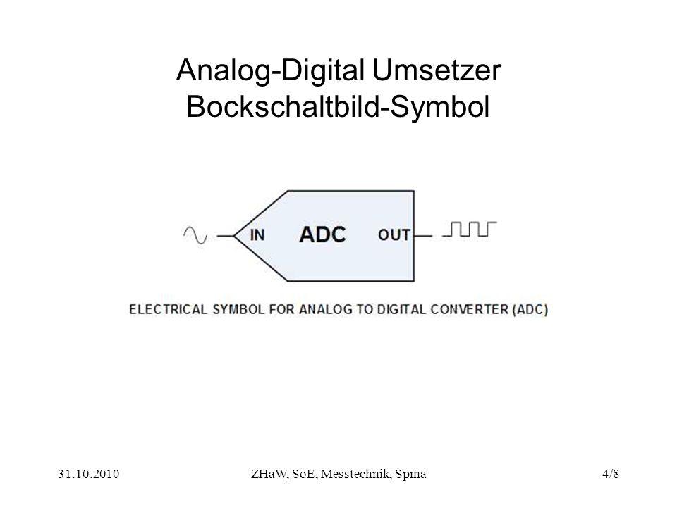31.10.2010ZHaW, SoE, Messtechnik, Spma4/8 Analog-Digital Umsetzer Bockschaltbild-Symbol