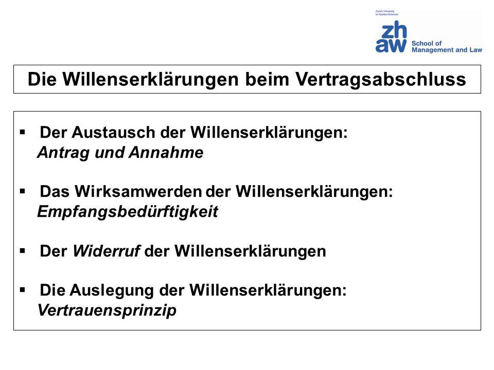 AB Der Austausch der Willenserklärungen Antrag (Offerte) Annahme (Akzept) t