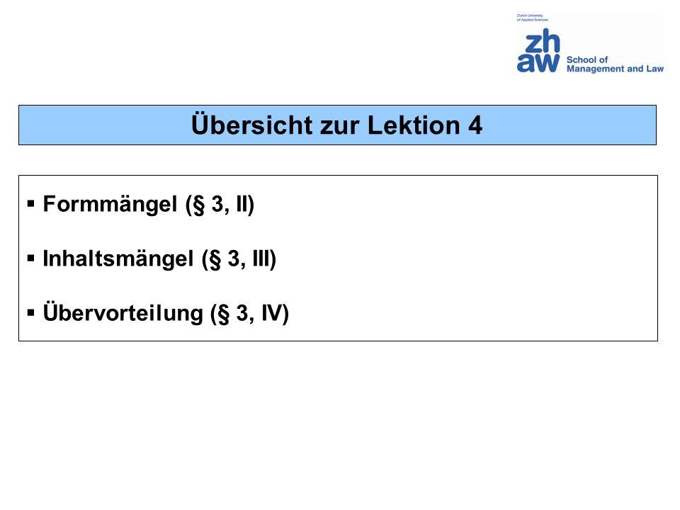 Vertraglich vorbehaltene Form (Art.16 OR) Art. 16 Abs.