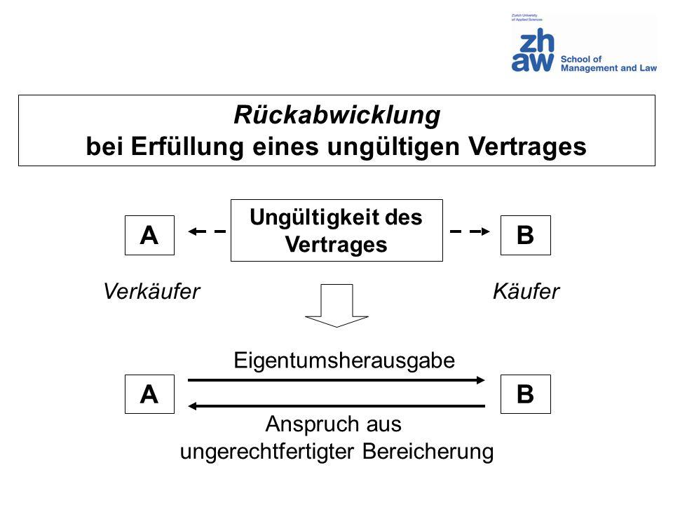 Form des Vertrages (Art.11 – 16 OR) Formfreiheit (Art.
