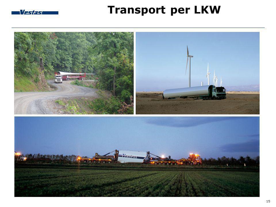15 Transport per LKW
