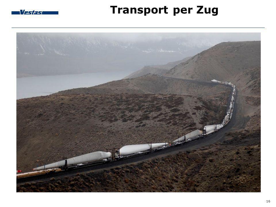 16 Transport per Zug