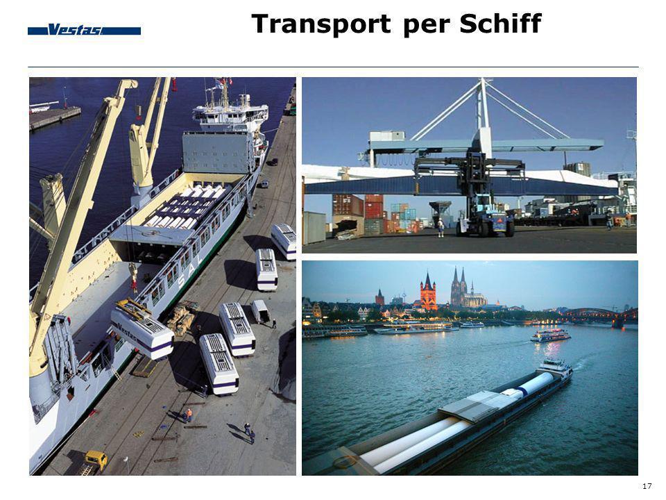 17 Transport per Schiff