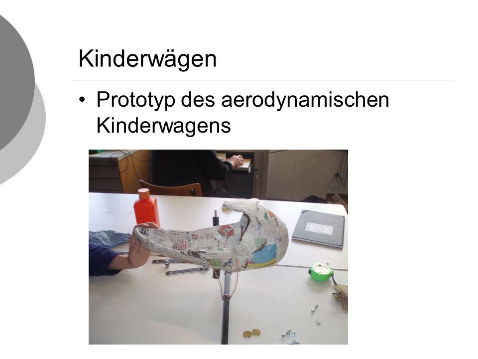 Kinderwägen Prototyp des aerodynamischen Kinderwagens